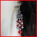 Boucles d'oreilles en cristal Swarovski rouge