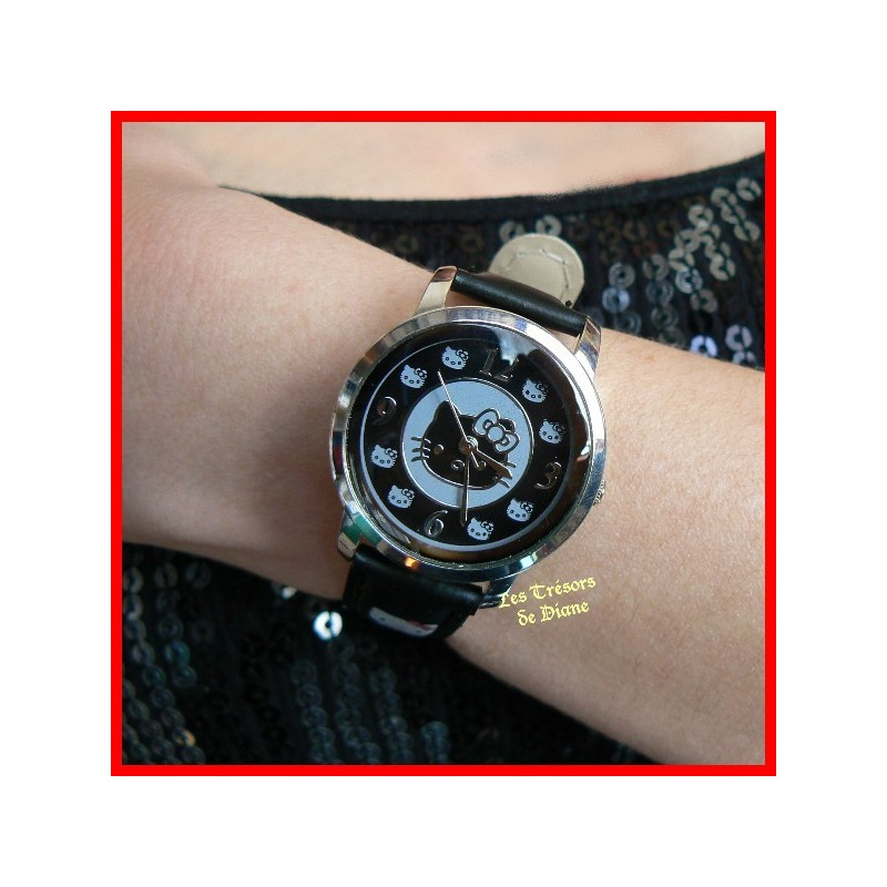 Montre HELLO KITTY noire