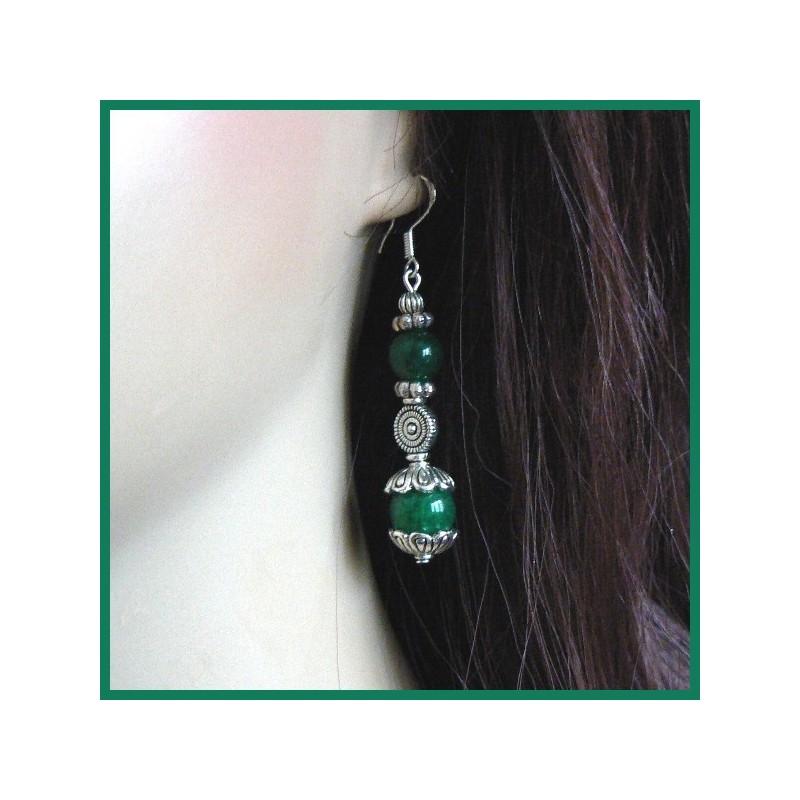 Boucles d'oreilles en jade impérial