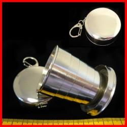 Gobelet télescopique portable en acier inoxydable