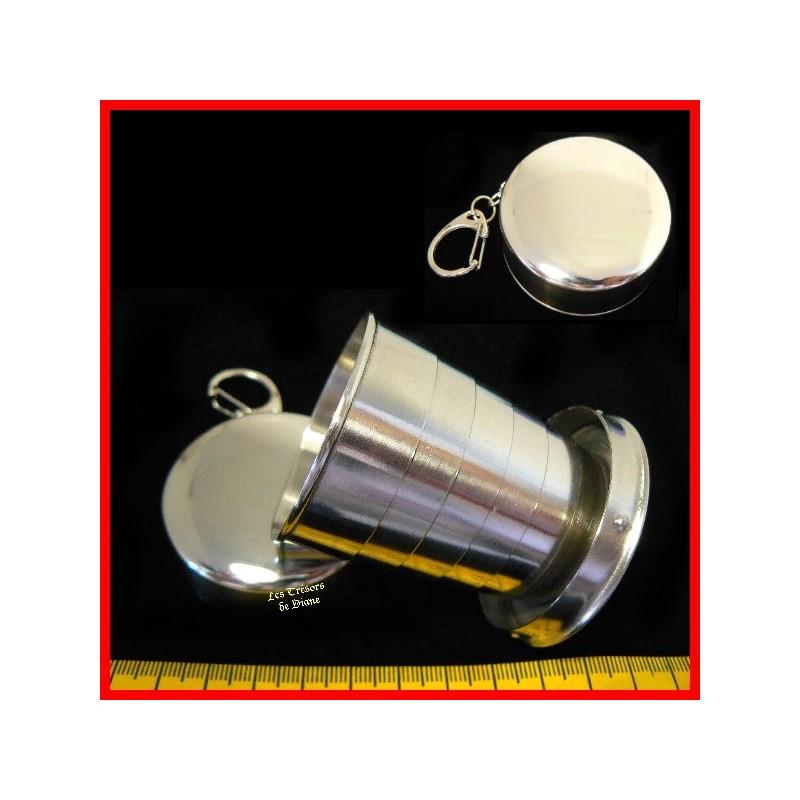 Gobelet téléscopique portable en acier inoxydable
