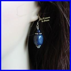 Boucles d'oreilles en Lapis Lazuli naturel