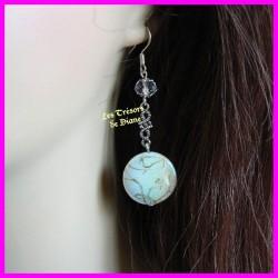 Boucles d'oreilles en nacre et cristal Swarovski