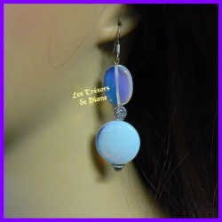 Boucles d'oreilles en opalite