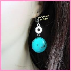 Boucles d'oreilles en turquoise naturelle