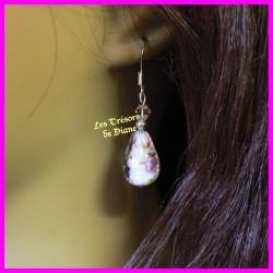 Boucles d'oreilles en cristal et verre soufflé