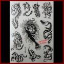 Tatouages éphémères PANTHERES ET DRAGONS