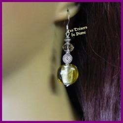 Boucles d'oreilles Murano et cristal Swarovski