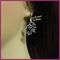Boucles d'oreilles gothique DRAGON