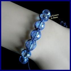 Bracelet Shamballa en cristal Swarovski bleu