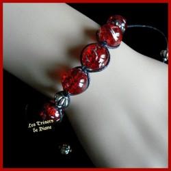 Bracelet Shamballa en verre de Venise