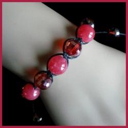 Bracelet Shamballa en jade et cristal Swarovski