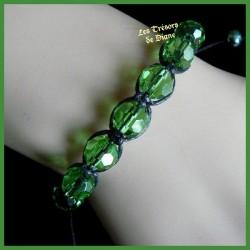 Bracelet Shamballa en verre de bohême