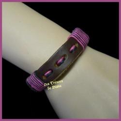 Bracelet surfeur en cuir