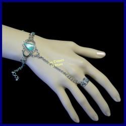 Bracelet de main en turquoise naturelle