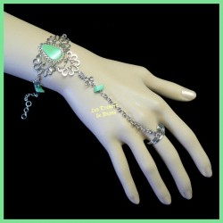 Bracelet de main en quartz vert naturel