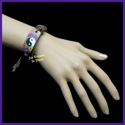 Bracelet surfeur en cuir PEACE AND LOVE