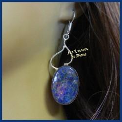 Boucles d'oreilles PRESTIGE en LAPIS LAZULI naturel
