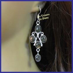 Boucles d'oreilles en LABRADORITE naturelle