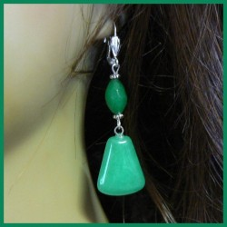 Boucles d'oreilles en JADE naturel