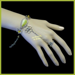 Bracelet de main en jaspe serpentine naturel
