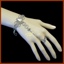 Bracelet de main en jaspe léopardine naturel