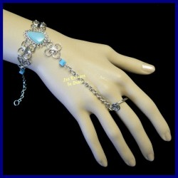 Bracelet de main en jaspe célestine naturel