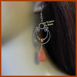 Boucles d'oreilles du Pérou en JASPE