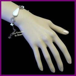 Bracelet du Pérou en OPALE blanche