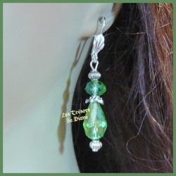 Boucles d'oreilles en cristal vert
