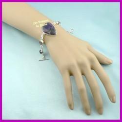 Bracelet PRESTIGE en AMETHYSTE naturelle