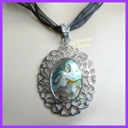 Pendentif médaillon en abalone LOUNA