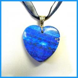 Pendentif COEUR en Lapis Lazuli naturel