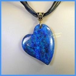 Pendentif COEUR ASYMETRIQUE en Lapis Lazuli naturel