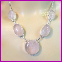 Collier PRESTIGE en QUARTZ ROSE