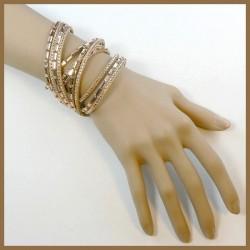 Bracelet  collier en strass