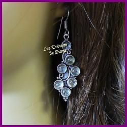 Boucles d'oreilles PRESTIGE en QUARTZ RUTILE naturel
