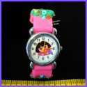 "Montre fantaisie ""Dora"" rose fuschia"