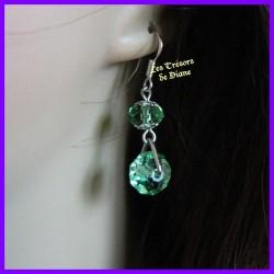 Boucles d'oreilles en cristal Swarovski vert
