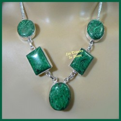 Collier PRESTIGE en MALACHITE naturelle