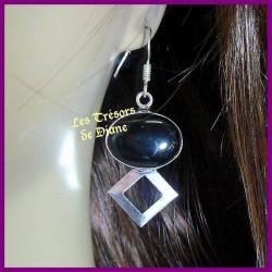 Boucles d'oreilles PRESTIGE en ONYX