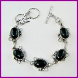 Bracelet PRESTIGE en ONYX naturelle