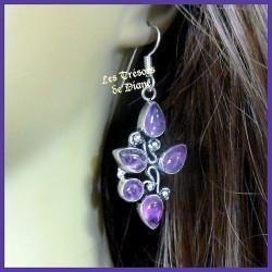 Boucles d'oreilles PRESTIGE en AMETHYSTE