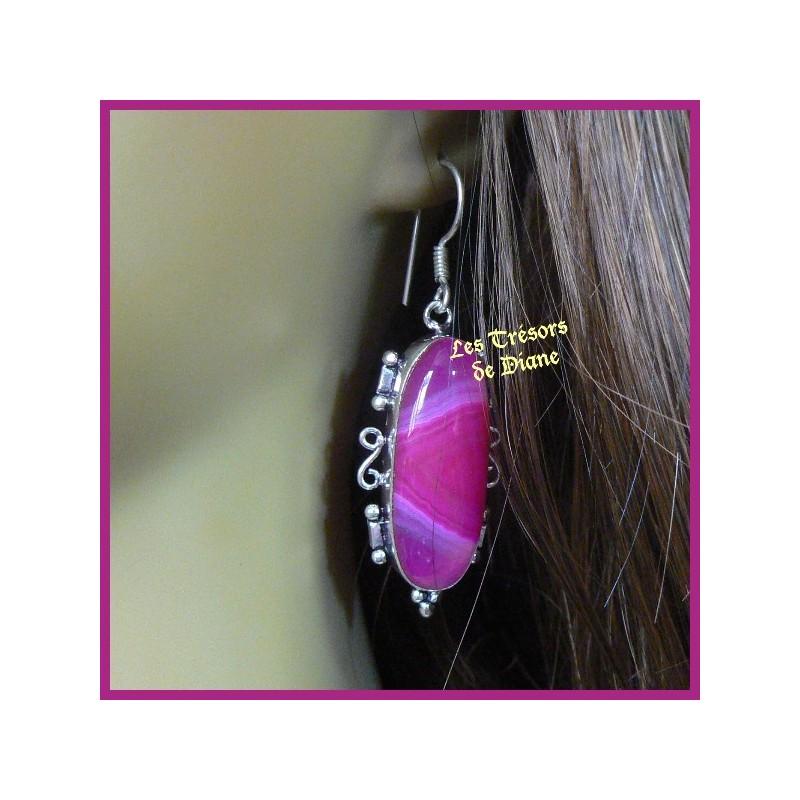 Boucles d'oreilles PRESTIGE en AGATE