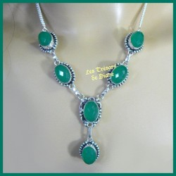 Collier PRESTIGE en CHRYSOPRASE naturel