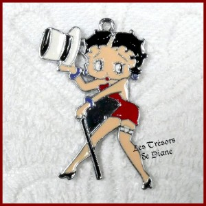 Charm BETTY BOOP rouge