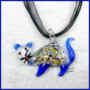 Pendentif CHAT style MURANO