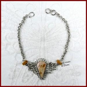 Bracelet du Pérou en JASPE LEOPARDINE