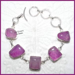 Bracelet en AGATE naturelle et ARGENT