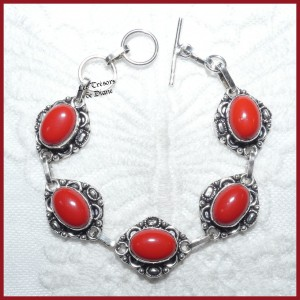 Bracelet en BAMBOU DE MER et ARGENT